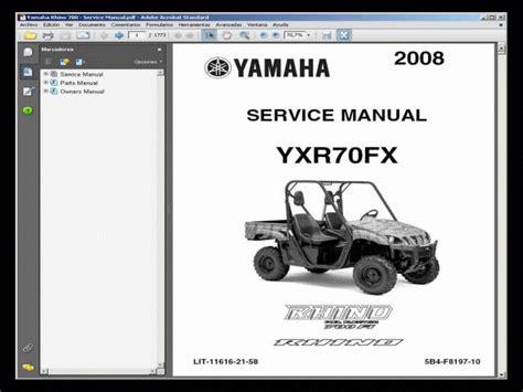 Yamaha Rhino 700 Utv Service Manual