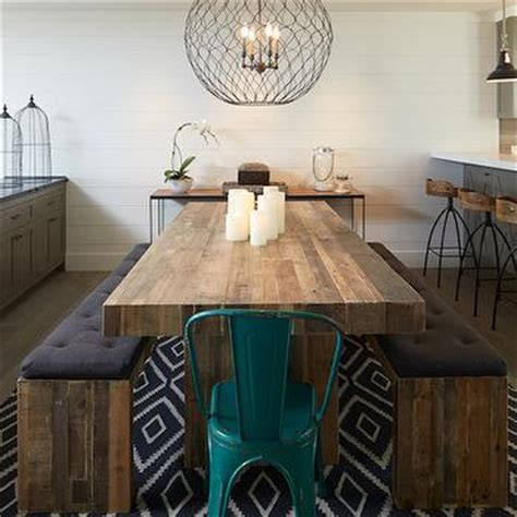 Shiplap Table Chunky Dining Table Contemporary Dining Room
