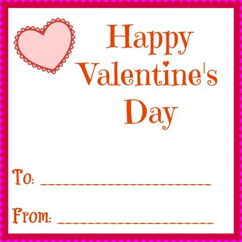 to from card template simple printable valentines day cards for your
