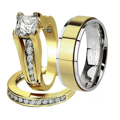 His And Hers Wedding Rings by Wedding Rings Sets His And Hers His Hers Pcs Tungsten