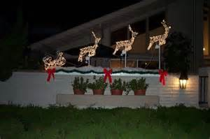 Front yards cheap outdoor christmas decorations ribbon on christmas