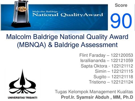 baldrige homepage baldrige national quality program tugas presentasi malcolm baldrige national quality award