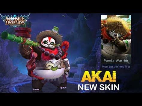 Akai Panda Warrior akai new skin panda warrior look mobile legends