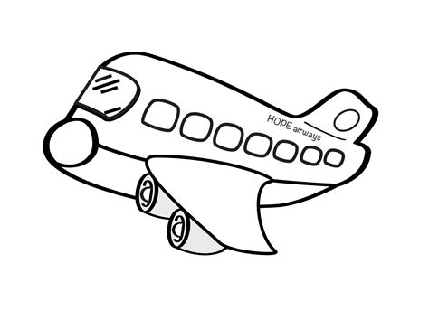 easy to draw clipart airplane drawing pictures cliparts co