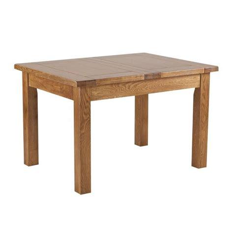 Solid Oak Dining Table With Leaf Auvergne Solid Oak Dining Table 4ft6 Extending 2 Leaf