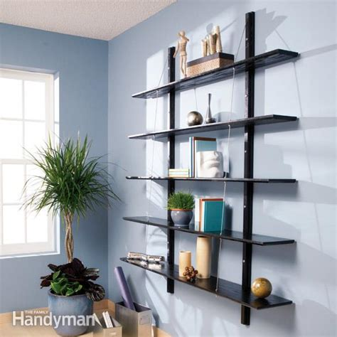 how to build suspended bookshelves the family handyman