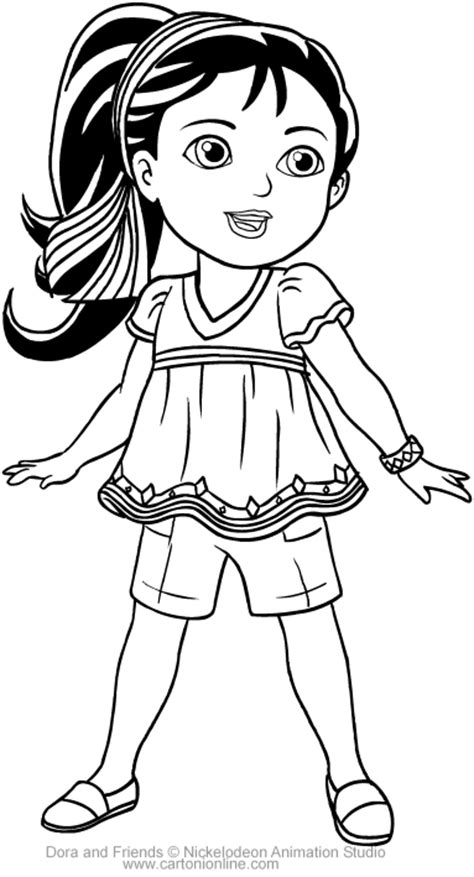 coloring pictures of dora and friends naiya of dora and friends coloring pages