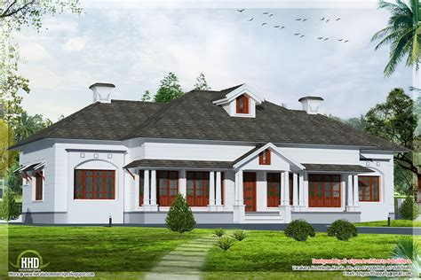 single floor 4 bedroom style villa house