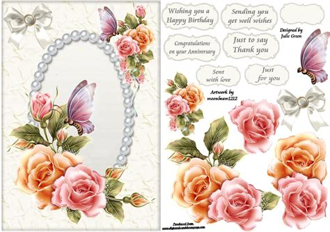 How To Do Decoupage Cards - free printable decoupage card templates search