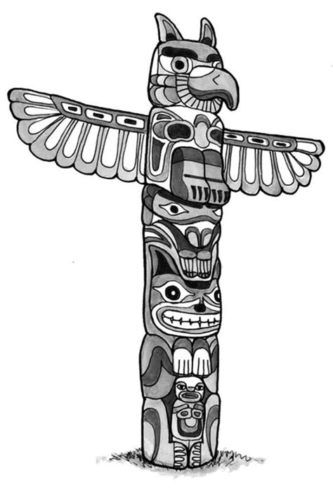 coloring pages totem animals totem poles animal figure totem poles coloring page