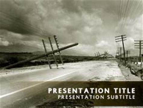 Royalty Free Storm Powerpoint Template In Yellow Hurricane Powerpoint Template Free