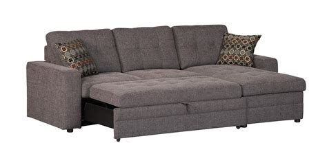 coaster company gus grey small sleeper sectional sofa