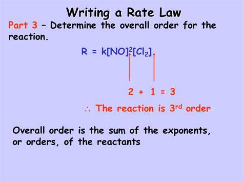 Written Overall rate laws presentation chemistry sliderbase