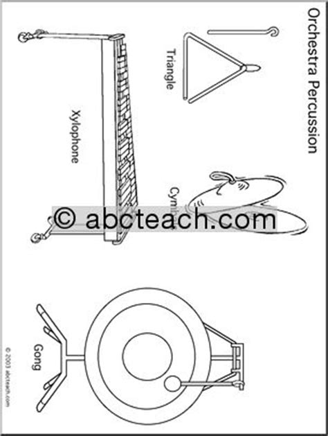 percussion family coloring page coloring page percussion 2 abcteach