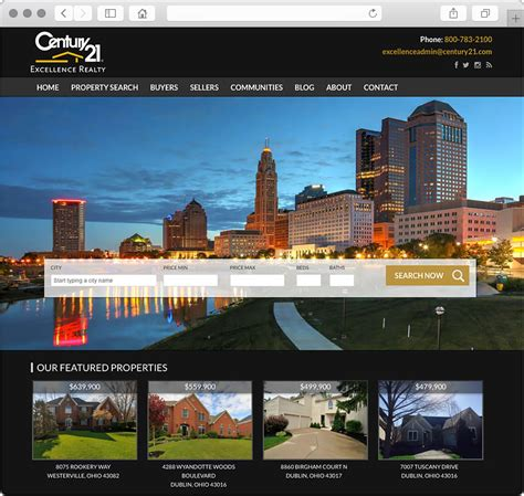 columbus ohio real estate website design