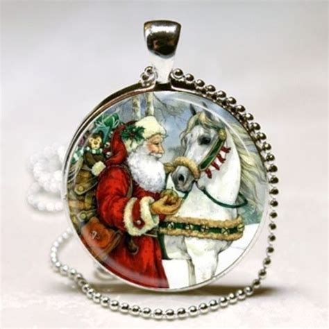 horse lover christmas gift vintage santa claus horse