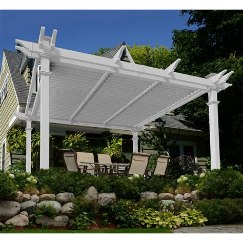 vinyl pergola materials pergola design ideas pergola kits costco louvered vinyl pergola simple neutral wooden materials