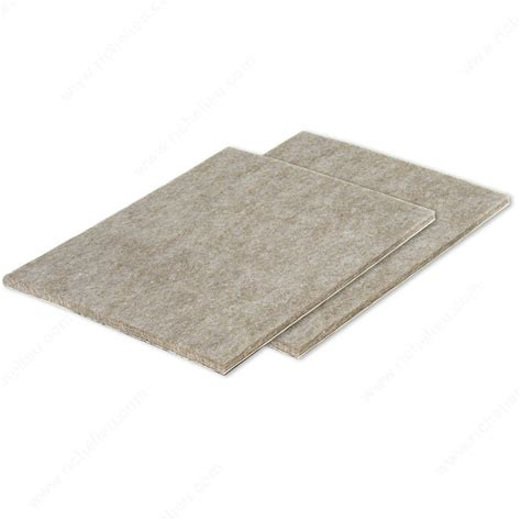 rug protectors for heavy furniture feltac 174 heavy duty self adhesive sheet felt pads richelieu hardware