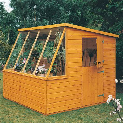 iceni pent shiplap wooden shed  assembly service