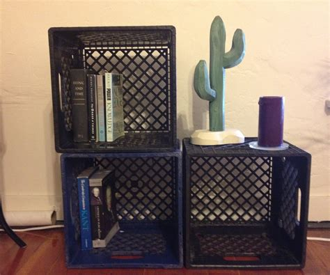 the milk crate bookshelf