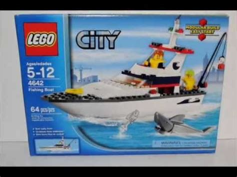 all lego boat sets lego city fishing boat set review 4642 youtube