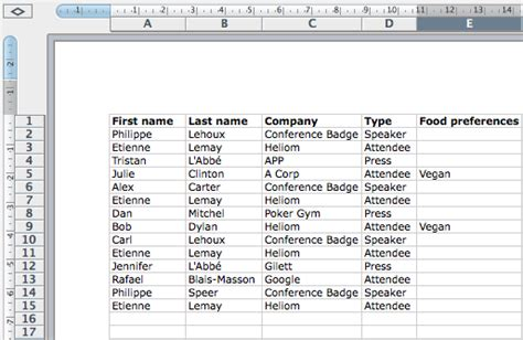 How To Create And Print Name Badges From An Excel Spreadsheet How To Make A Template In Excel