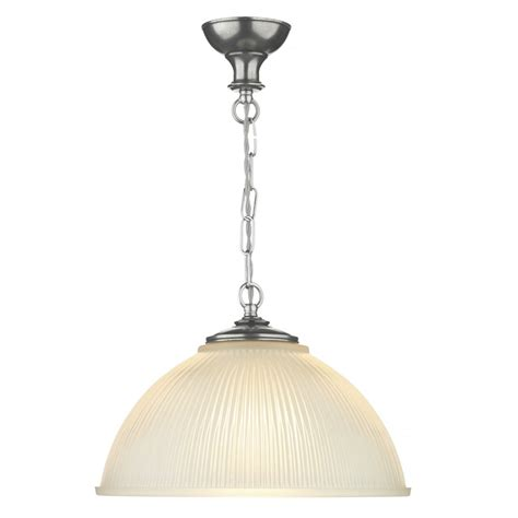 Pewter Ceiling Pendant Light With Ribbed Satin Glass For Pewter Ceiling Light