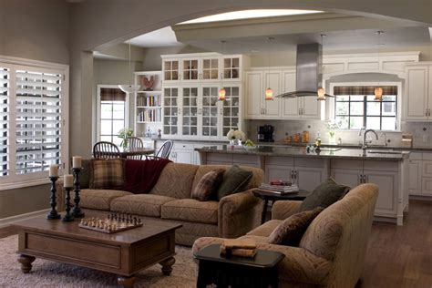 decorating ideas for open living room and kitchen how to set up a kitchen layout virily