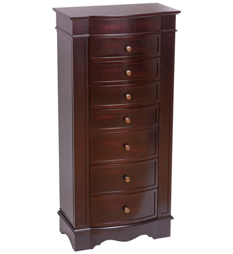 Jewely Armoire by Wooden Jewelry Armoire Walnut In Jewelry Armoires