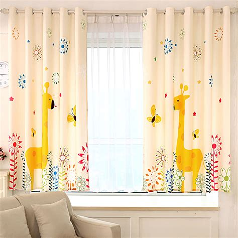 kid room curtains aliexpress com buy cartoon giraffe kids window curtains