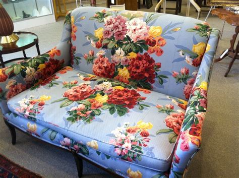 Flowered Couches by Vintage Floral Sofa Odana Antiques I Home