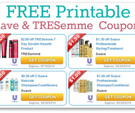 Tresemme Printable Coupons