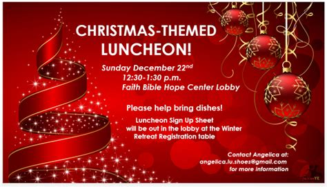 images of christmas luncheon our christmas program for this week faith bible church