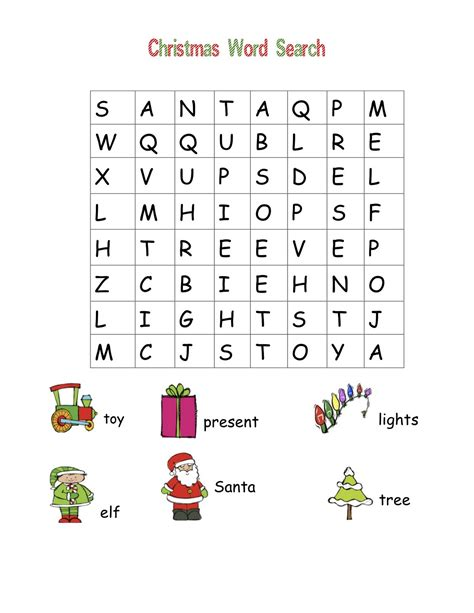 christmas wordsearch for kindergarten printable classroom freebies christmas word searches
