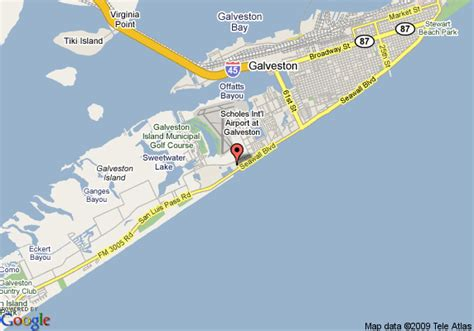 galveston map texas comfort suites galveston