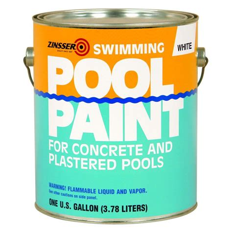 home depot zinsser paint zinsser 1 gal white flat based swimming pool paint