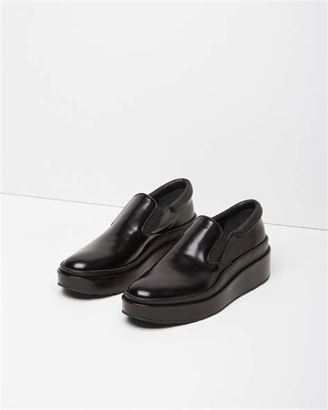 jil sander slip on platform shoe in black lyst