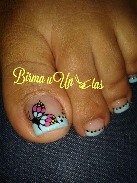 imagenes uñas decoradas con mariposas u 241 as de los pies mariposas and pedicura on pinterest