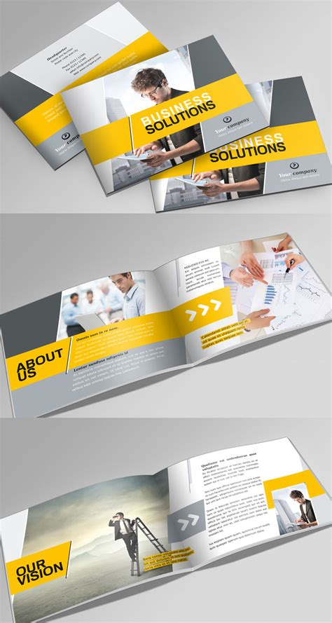 horizontal brochure template portfolio booklet a5 psdbucket