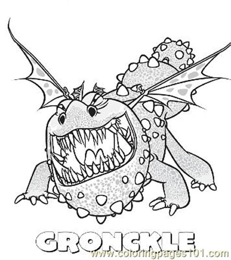 coloring pages gronckle cartoons gt how to train your