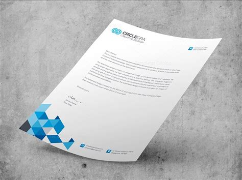 elegant corporate psd letterhead templates