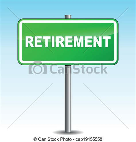 Small Retirement Home Plans clipart vector of vector retirement signpost vector