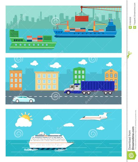 airport design editor exclude water airplane bus cruise ship and train cartoon vector