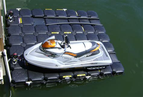 what is recommended when docking your boat floating pwc lifts and drive on jet ski lifts by jet dock