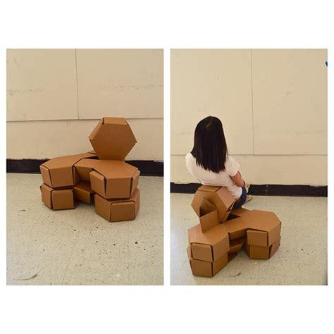 modular cardboard chair project on risd portfolios
