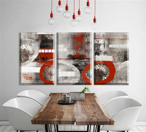 cheap retro home decor 3 piece cheap 2015 new america style red abstract canvas