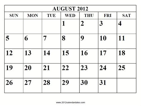 august 2012 calendar template 17 best images about calendar 2012 on free