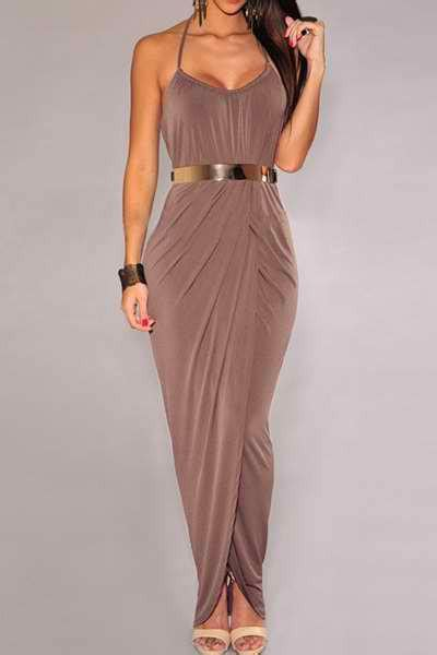 coffee colored dress coffee colored halter maxi dress with from maze fashions