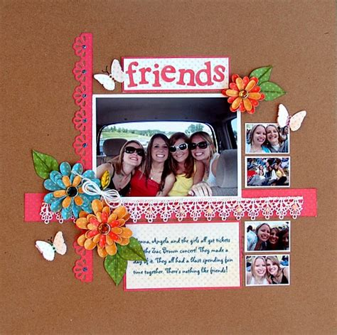 scrapbook layout for friends friends scrapbook page scrap friends pinterest