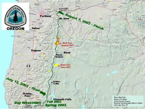 pct oregon map map oregon pacific crest trail pictures to pin on